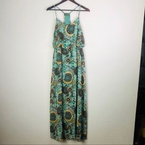 Maude Green Floral Maxi Dress | Large
